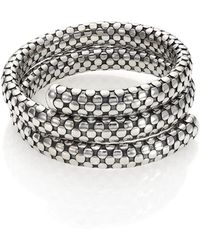 John Hardy - Dot Sterling Silver Double-coil Bracelet - Lyst