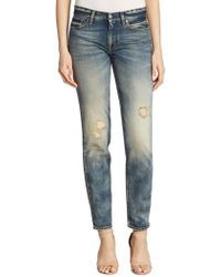 Ralph Lauren Collection   Iconic 320 Distressed Boyfriend Jeans   Lyst