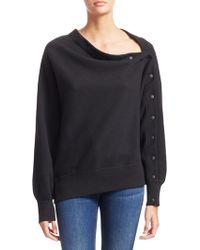 Rag & Bone - Kate Cotton Snap Detail Modular Sweatshirt - Lyst