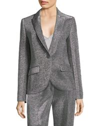 ESCADA - Metallic Jersey Jacket - Lyst