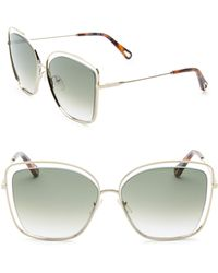 79533c3243d Jayme Ce 688s 036 Grey Acetate And Silver Metal Square Women s Sunglasses.   631  315 (50% off). FORZIERI · Chloé - Women s Poppy Butterfly Sunglasses  ...