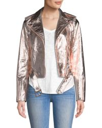 True Religion | Rose Gold Leather Jacket | Lyst