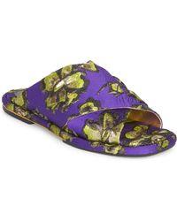 Dries Van Noten - Brocade Slide Sandals - Lyst 5afb55d6b