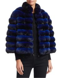Saks Fifth Avenue - Rome Cropped Chinchilla Fur Jacket - Lyst