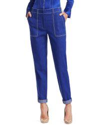 Akris - Blueprint Cotton Trousers - Lyst