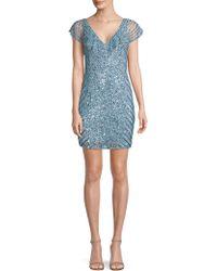 Parker Black - Daley Sequin Sheath Dress - Lyst