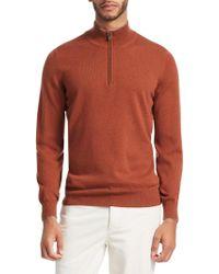 Brunello Cucinelli - Cashmere Half-zip Sweater - Lyst
