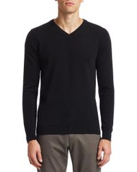 Saks Fifth Avenue - Collection V-neck Cashmere Sweater - Lyst