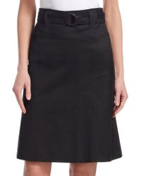 Akris Punto - Belted A-line Skirt - Lyst