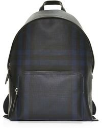 f3665f091011 Lyst - Burberry Abbeydale Backpack in Blue for Men