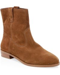 Rebecca Minkoff - Chasidy Suede Flat Boots - Lyst