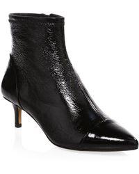Rebecca Minkoff - Siya Kitten Heel Leather Booties - Lyst
