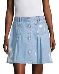 Public School - Penny Denim Skirt - Lyst
