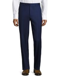 Canali - Traveler Wool Trousers - Lyst