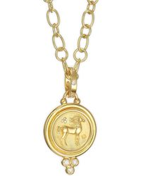 Temple St. Clair - Diamond & 18k Yellow Gold Horse Coin Pendant - Lyst