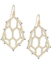 Alexis Bittar | Elements Spiked Crystal Honeycomb Drop Earrings | Lyst