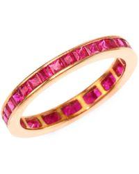 Meira T - Ruby & 14k Rose Gold Ring - Lyst