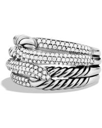 David Yurman - Labyrinth Double-loop Ring With Diamonds - Lyst