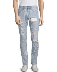 PRPS - Distressed Light Wash Tapered Jeans - Lyst