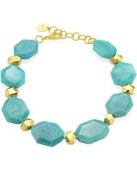 Nest - Amazonite Nugget Necklace - Lyst