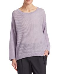 Brunello Cucinelli - Mohair & Wool Knit Pullover - Lyst