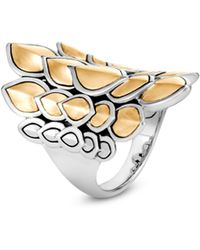 John Hardy - Legends Naga Large Gold & Silver Saddle Ring - Lyst