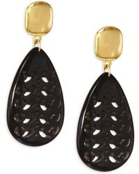 Nest - Horn Teardrop Earrings - Lyst