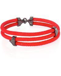Stinghd - Blackened Silver & Stingray Triangle Wrap Bracelet - Lyst