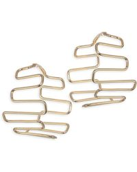 Paula Mendoza - Women's Mesay Geometric Hoop Earrings - Yellow Gold - Lyst