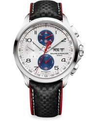 Baume & Mercier | Clifton Club Shelby Cobra 10342 Stainless Steel & Leather Strap Watch | Lyst