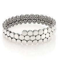 John Hardy | Dot Sterling Silver Double Coil Bracelet | Lyst