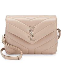 bdaa4700487c Saint Laurent Loulou Toy Monogram Quilted Velvet Shoulder Bag in ...