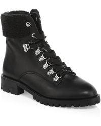 Rebecca Minkoff - Jaylin Leather Hiking Boots - Lyst