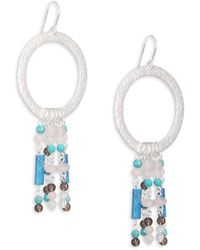 Stephanie Kantis - Turquoise & Smoky Topaz Circle Earrings - Lyst