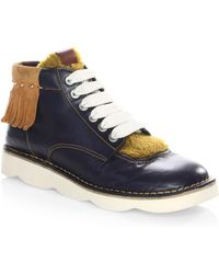 COACH - 1941 Shearling Derby Boots - Lyst
