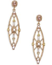 Bavna - Colored Diamond Drop Earrings - Lyst