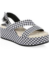 Rag & Bone - Megan Plaid Wedge Sandals - Lyst