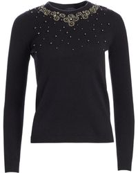 7cfc9e076f6 Saks Fifth Avenue - Women s Collection Embellished Cashmere Sweater - Snow  - Size Medium - Lyst