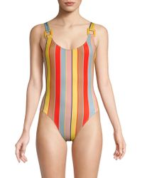 Solid & Striped - The Stella One-piece Striped Swimsuit - Lyst