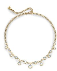 Temple St. Clair - Royal Blue Moonstone, Diamond & 18k Yellow Gold Half Bib Necklace - Lyst