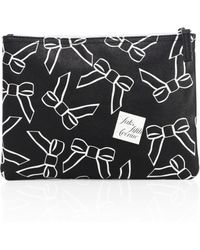 Saks Fifth Avenue - Large Saffiano Faux-leather Bow Pouch - Lyst