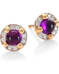 Pomellato - M'ama Non M'ama 18k Rose Gold Amethyst & Diamond Earrings - Lyst