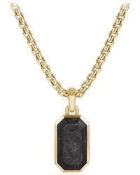 David Yurman - Men's Forged Carbon Amulet With 18k Gold - Lyst