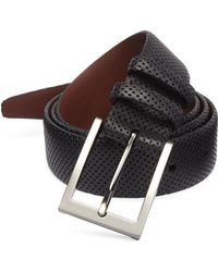 Saks Fifth Avenue - Perforated Leather Belt - Lyst