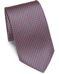 Ferragamo - Horseshoe-print Silk Tie - Lyst