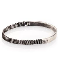Title Of Work - Sterling Silver Mesh & Solid Bracelet - Lyst