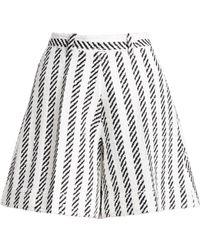 Oscar de la Renta - Women's Matching Stripe Skirt Shorts - White Black - Size 4 - Lyst