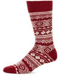 Barbour - Fair Isle Motif Socks - Lyst