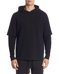 Vince - Regular-fit Cotton Layered Hoodie - Lyst