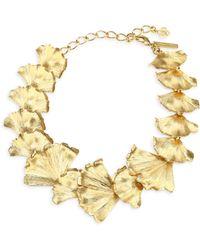 Oscar de la Renta - Ginkgo Leaf Statement Necklace - Lyst